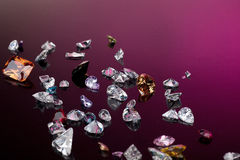 Set of many different gemstone Stock Images