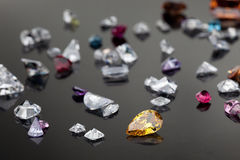 Set of many different gemstone Royalty Free Stock Photos