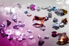 Set of many different gemstone Royalty Free Stock Photo