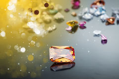 Set of many different gemstone Royalty Free Stock Images