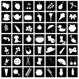 Set with many different icons Royalty Free Stock Photos