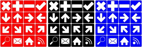 Set of many different icons Stock Image