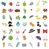 Set with many different objects Royalty Free Stock Photography