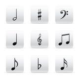 Set of many Music Notes Stock Photos