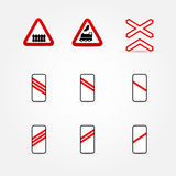 Set of many traffic signs Stock Photography