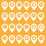 Set of map icons & markers - vector illustration stock illustration