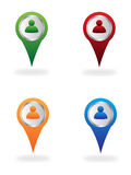 Map location icons. Set of map location icons isolated on white Royalty Free Stock Image