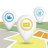 Set Map Location Icons. Royalty Free Stock Photo