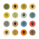 Set of map markers Royalty Free Stock Image