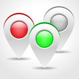 Set of map markers -  illustration. Stock Images