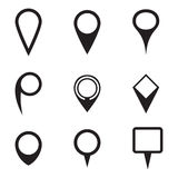 Set of map pointer icons Stock Photography