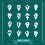 Set of Map Pointer icons for website and communication Stock Photography