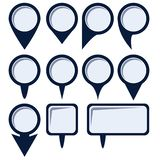 Set of map pointers. Maps pin. Location map icon. Location pin. Pin icon vector. vector illustration