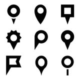 Set of map pointers. Vector illustration for your cute design Royalty Free Stock Photos