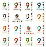 Set of map tag logo icons Royalty Free Stock Photos