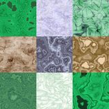 Set of marble seamless generated textures Stock Photography