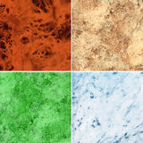 Set of marble slab surface texture Royalty Free Stock Photography