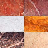 Set of Marble Texture Background Royalty Free Stock Photography