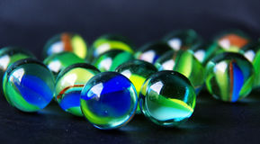 Set of marbles Stock Photography