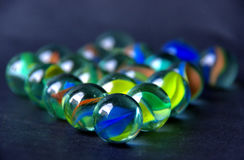 Set of marbles I Royalty Free Stock Photography