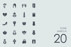 Set of March 8 icons Stock Photography