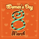 Set March 8 Women's Day greeting card. 1 Stock Photography