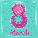 Set March 8 Women's Day greeting card. 3 Stock Photos