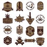Set of Marijuana labels Royalty Free Stock Images