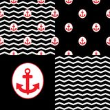 Set of Marina Patterns Royalty Free Stock Image