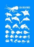 Set of marine animals Stock Photography