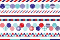 Set of marine decoration lines. Royalty Free Stock Image