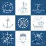 Set of Marine Icons vector illustration
