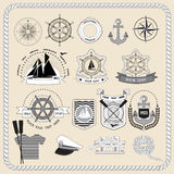 Set of marine icons. vector illustration Stock Images