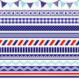 Marine decoration. Set of marine line decoration Royalty Free Stock Images