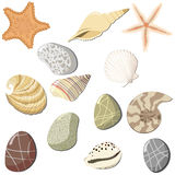 Set of the marine objects. Vector Royalty Free Stock Photos