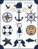 Set Marine style Royalty Free Stock Images