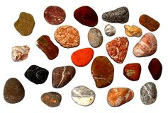 Set of maritime pebbles. Set of varicoloured pebbles, maritime pebbles Stock Image