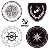 Set of maritime symbols Royalty Free Stock Images