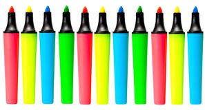 Set marker color. Highlighters isolated on white background royalty free stock image