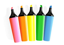 Set of markers Royalty Free Stock Photography