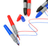 Set of markers Royalty Free Stock Photo