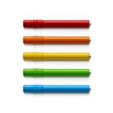 Set of Markers, Highlighters, Felt Tip Pens Royalty Free Stock Image
