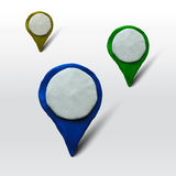 Set of markers for maps or places Royalty Free Stock Photos