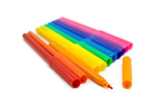 Set of markers Royalty Free Stock Photos