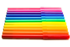 Set of markers rainbow colors Stock Photo