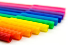 Set of markers rainbow colors Royalty Free Stock Photography