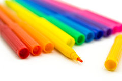 Set of markers rainbow colors Stock Images