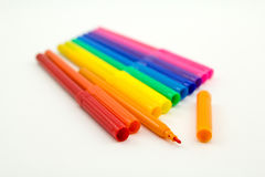 Set of markers rainbow colors Royalty Free Stock Photo