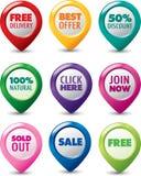 Set of marketing 3D icons Royalty Free Stock Photos
