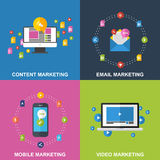 Set of Marketing Design Concepts. Royalty Free Stock Images